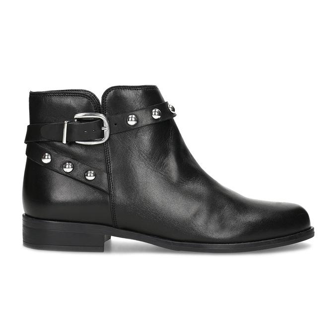 Kožená členková obuv s kovovými cvočkami bata, čierna, 594-6668 - 19