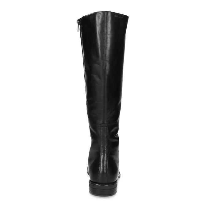 Kožené čierne čižmy s vysokým šnurovaním vagabond, čierna, 594-6007 - 15
