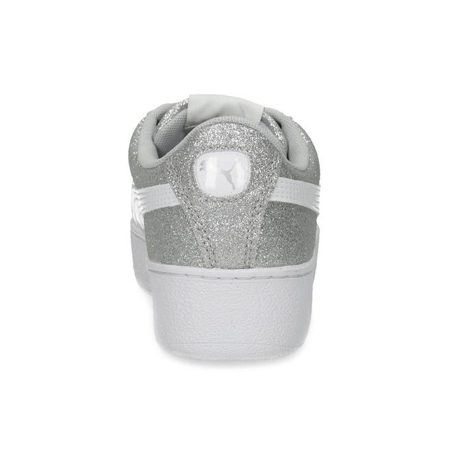 Detské trblietavé tenisky na flatforme puma, strieborná, 401-2392 - 15