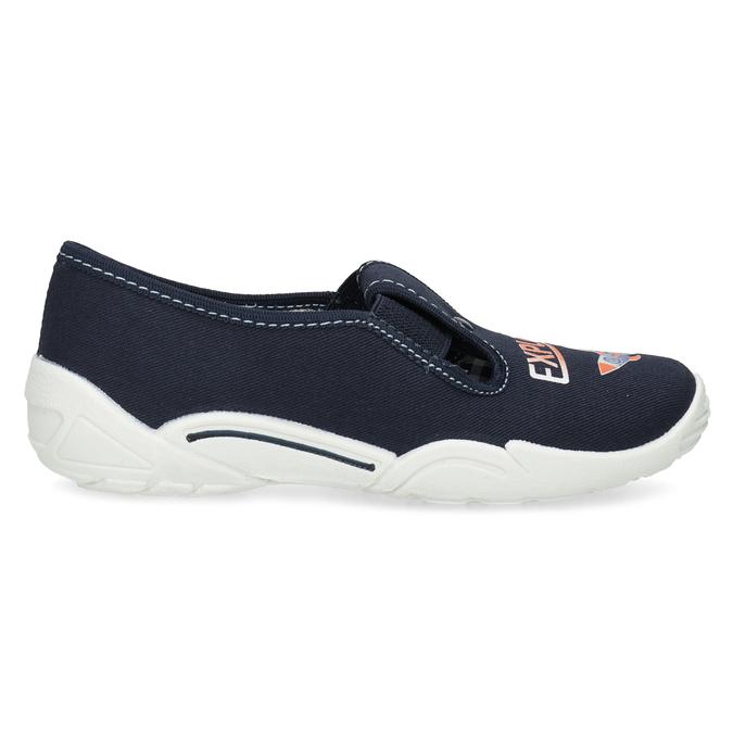 Detská domáca obuv s motívom rakety mini-b, modrá, 379-9219 - 19