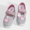 Detská domáca obuv s mašličkou mini-b, strieborná, 379-1314 - 16