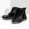 Dievčenská čierna lesklá členková obuv mini-b, čierna, 391-6259 - 16