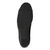 Kožené čierne lodičky na nízkom klinku comfit, čierna, 626-6651 - 18