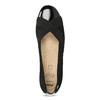 Kožené čierne lodičky na nízkom klinku comfit, čierna, 626-6651 - 17