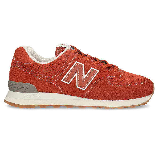 Červené pánske športové tenisky new-balance, oranžová, 803-5174 - 19