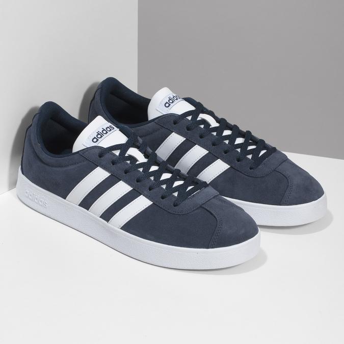 Pánske tenisky z brúsenej kože adidas, modrá, 803-9379 - 26