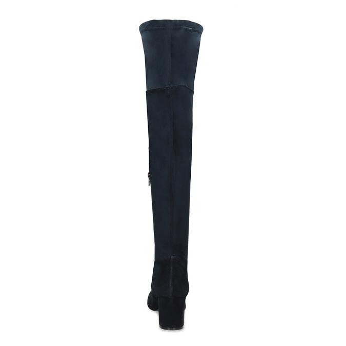 Modré dámske čižmy nad kolená bata, modrá, 793-9614 - 15