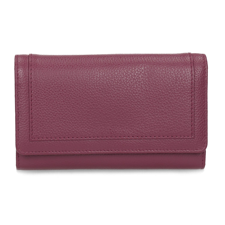 Baťa Dámska kožená vínová peňaženka - Peňaženky  6f53fef6c5d