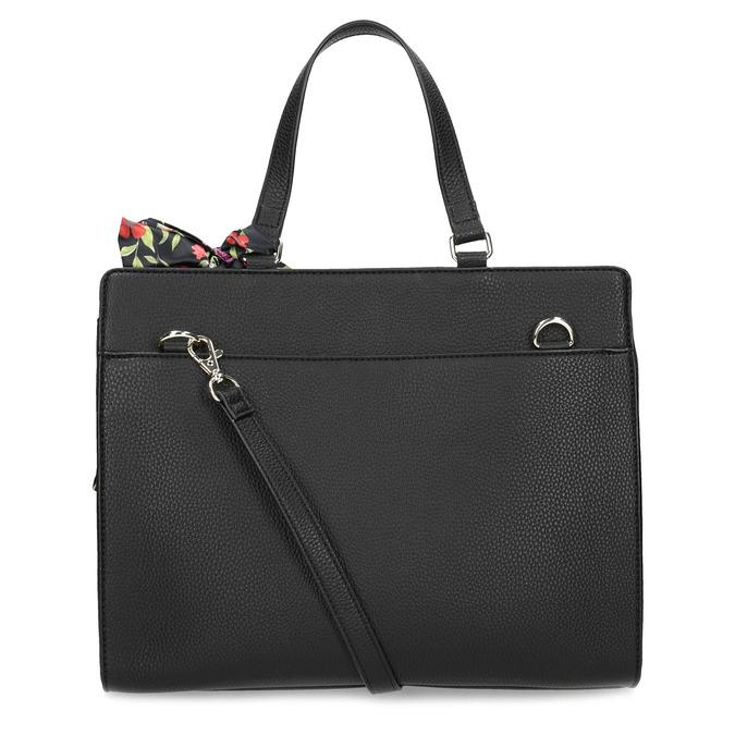 Čierna kabelka s mašľou bata-red-label, čierna, 961-6896 - 16