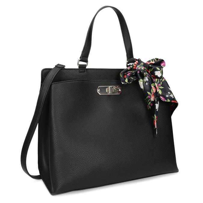 Čierna kabelka s mašľou bata-red-label, čierna, 961-6896 - 13