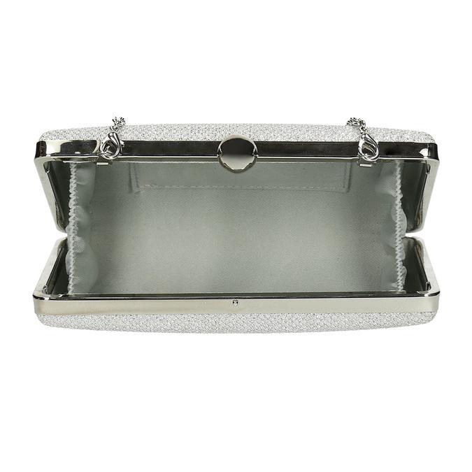 Strieborná listová kabelka pevného tvaru bata, strieborná, 969-1702 - 15