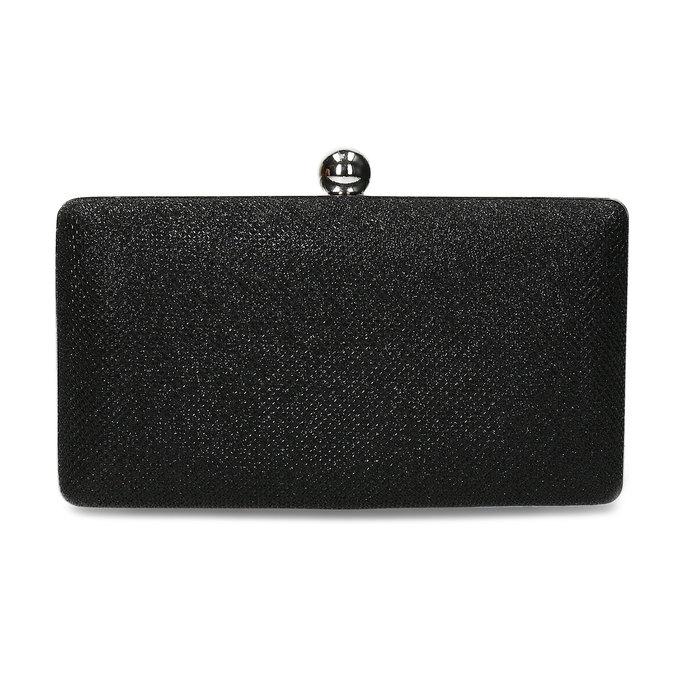 Čierna trblietavá listová kabelka bata, čierna, 969-6702 - 26