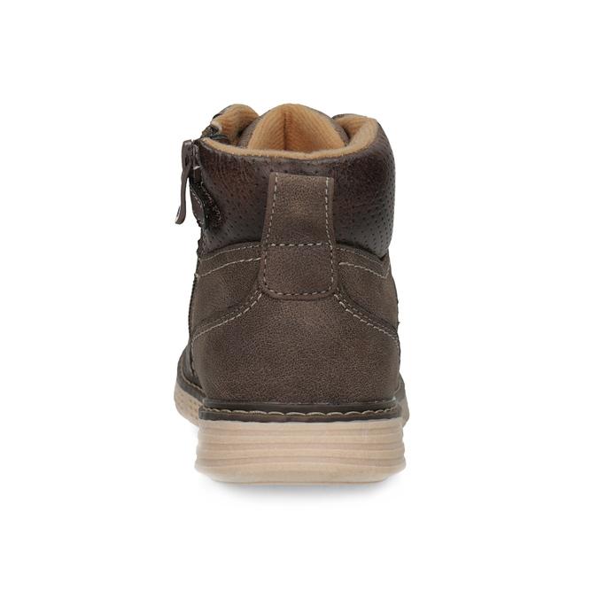 Hnedá detská členková obuv na zips mini-b, hnedá, 311-4614 - 15