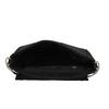 Kožená čierna crossbody kabelka s prešitím bata, čierna, 963-6603 - 15