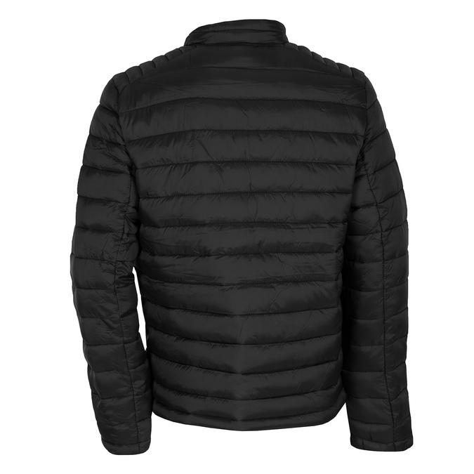 Pánska čierna bunda s prešitím bata, čierna, 979-6369 - 26