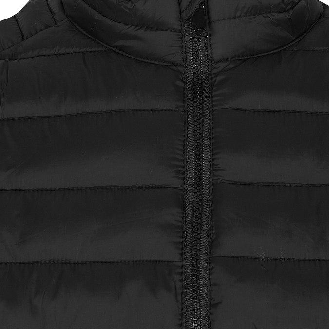 Pánska čierna bunda s prešitím bata, čierna, 979-6369 - 16