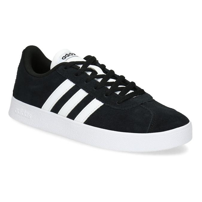 Adidas Detské kožené tenisky čierne - Nízke  a6ebbe76844