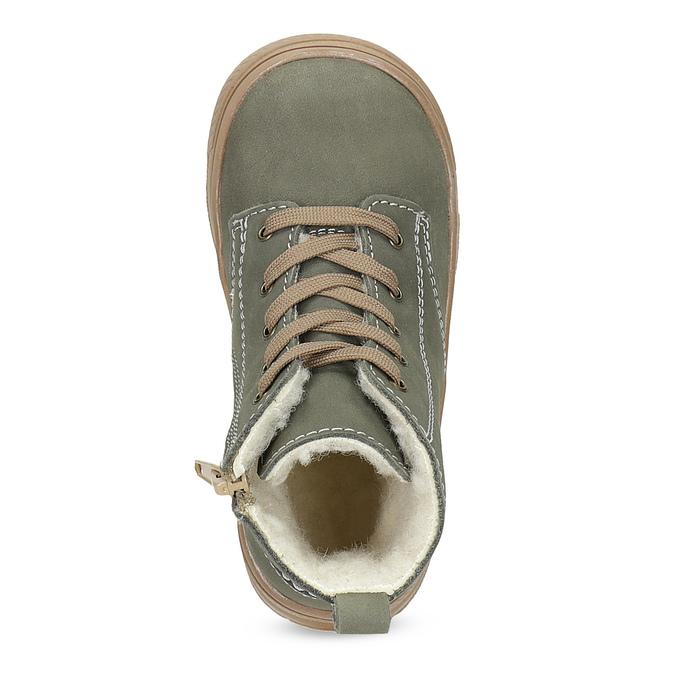 Detská kožená zimná obuv s prešitím mini-b, 296-3600 - 17