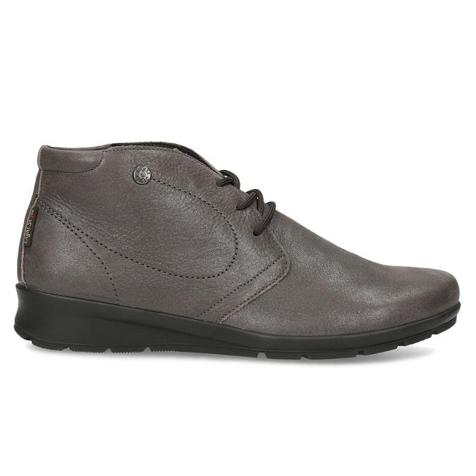 Dámska kožená členková obuv comfit, hnedá, 596-4707 - 19