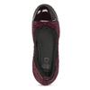 Dámske kožené vínové baleríny flexible, červená, 526-5663 - 17