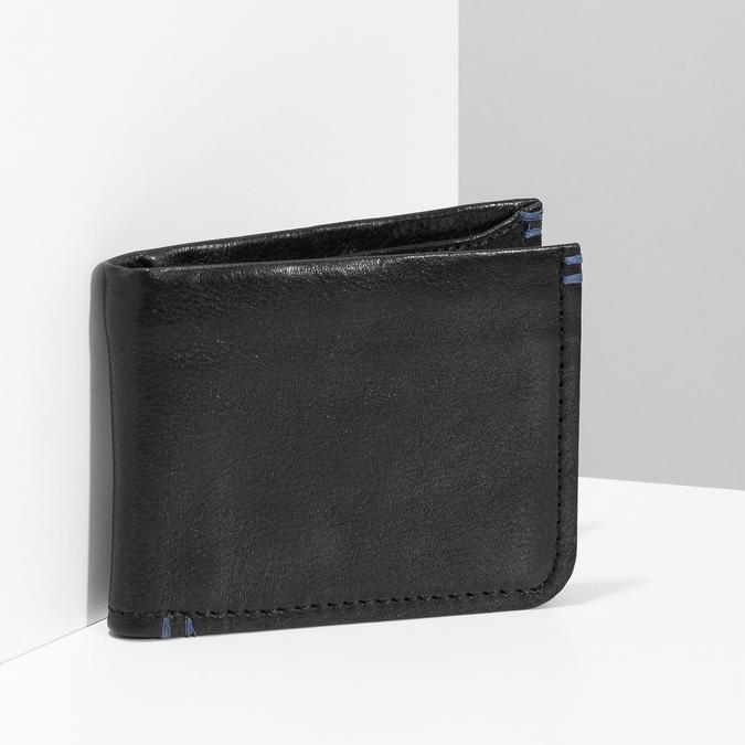 Kožená čiernw pánska peňaženka bata, čierna, 944-6214 - 17