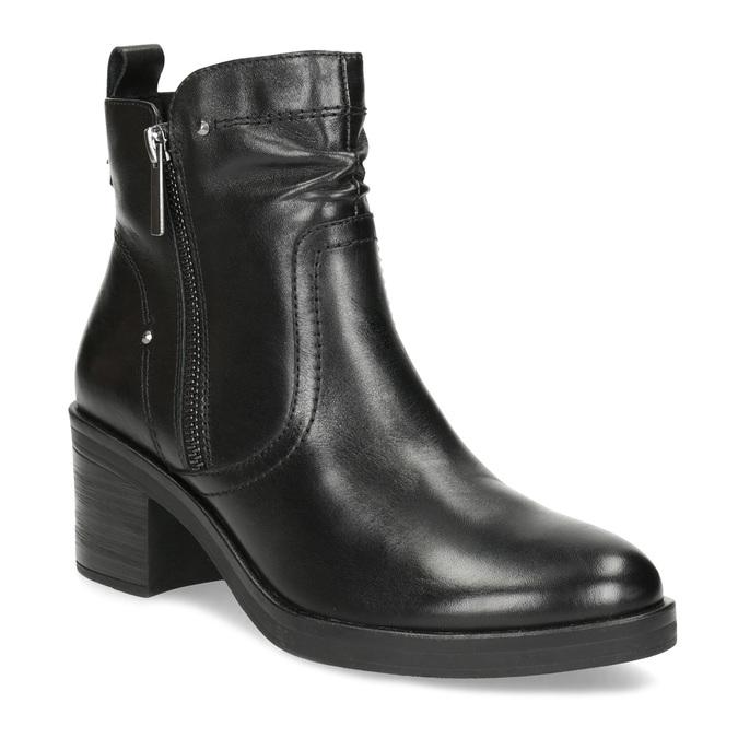 Dámska členková zimná obuv na podpätku bata, čierna, 694-6672 - 13