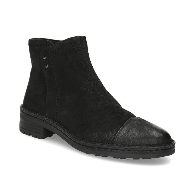 Dámska kožená členková obuv bata, čierna, 596-6708 - 13