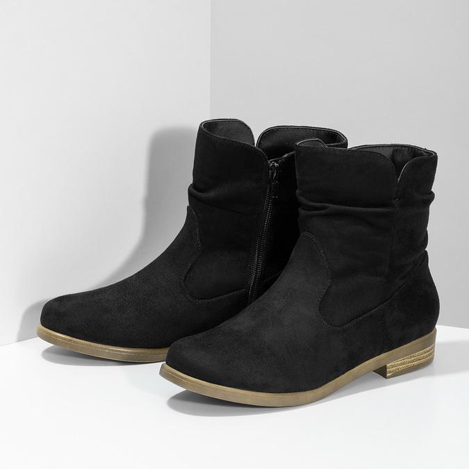 Dámské členkové čižmy bata, čierna, 599-6614 - 16