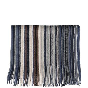 Pánsky modrý šál s prúžkami bata, modrá, 909-9713 - 13