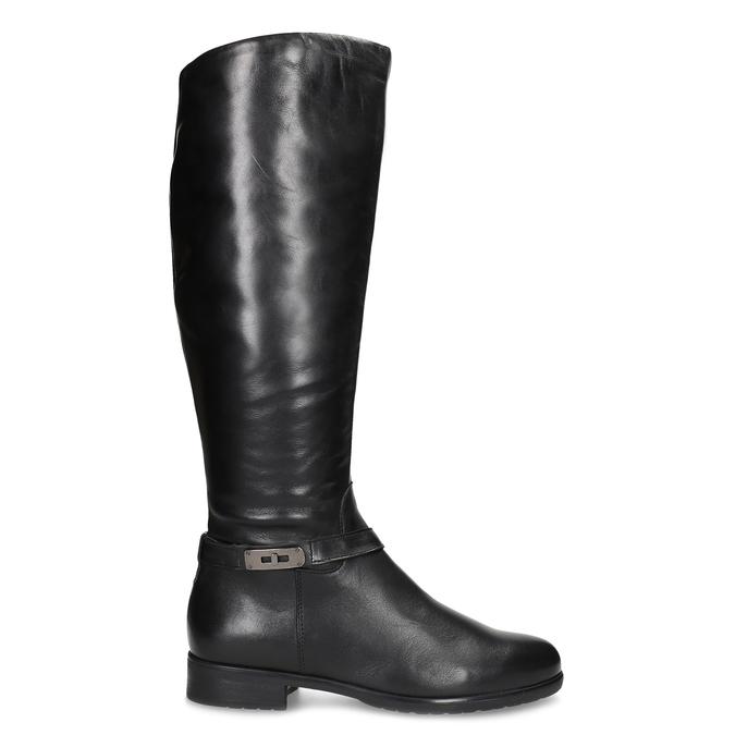 Kožené čierne dámske čižmy bata, čierna, 594-6676 - 19