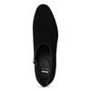 Dámska kožená členková obuv s cvočkami bata, čierna, 723-6661 - 17