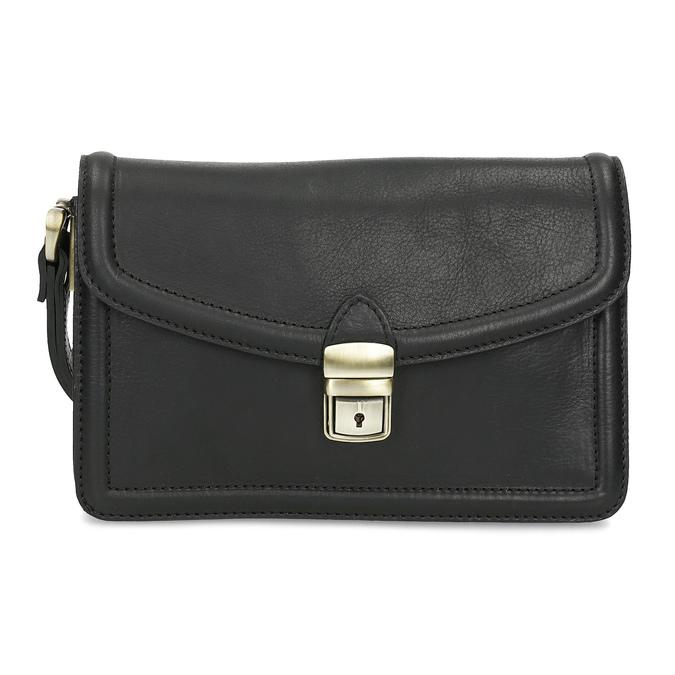 Čierna pánska kožená taška do ruky bata, čierna, 964-6315 - 26