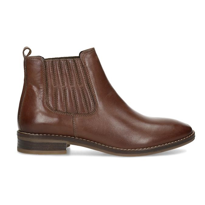 Kožená dámska obuv v Chelsea štýle bata, hnedá, 594-4682 - 19