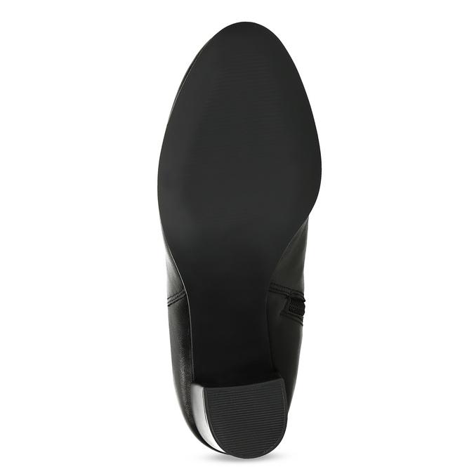 Kožené dámske čižmy s riasením bata, čierna, 794-6664 - 18