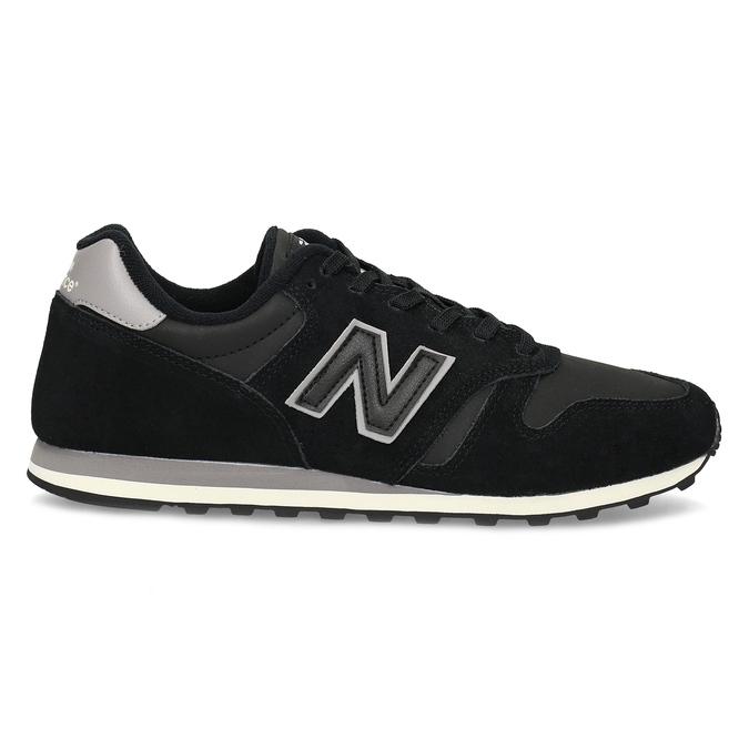 Čierne pánske tenisky z brúsenej kože new-balance, čierna, 803-6137 - 19