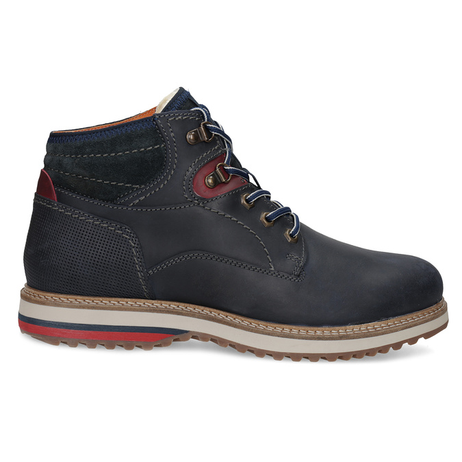 Kožená členková pánska zimná obuv bata, modrá, 896-9716 - 19