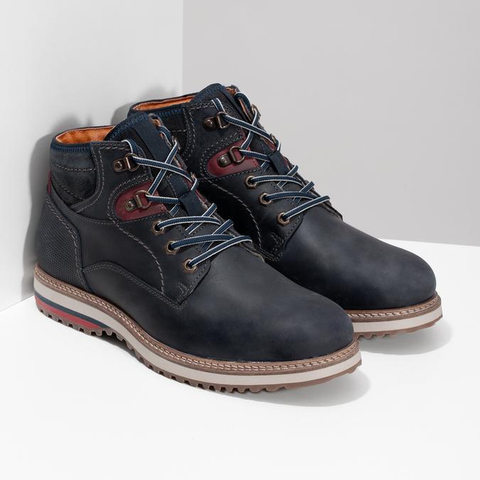 Kožená členková pánska zimná obuv bata, modrá, 896-9716 - 26
