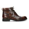 Pánska hnedá lesklá členková obuv bata, hnedá, 896-3720 - 19