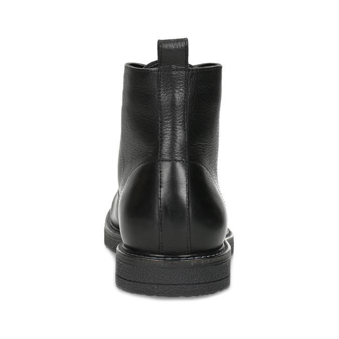 Čierna kožená členková pánska obuv bata, čierna, 894-6721 - 15