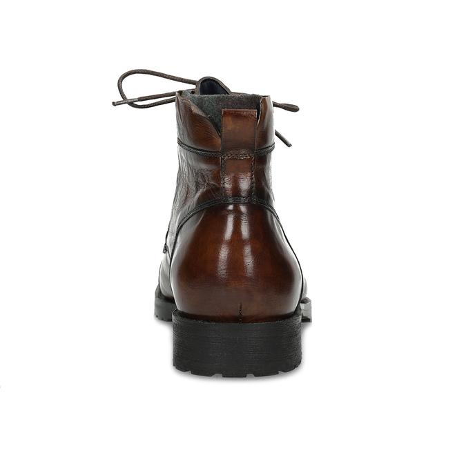 Pánska hnedá lesklá členková obuv bata, hnedá, 896-3720 - 15