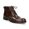 Pánska hnedá lesklá členková obuv bata, hnedá, 896-3720 - 13