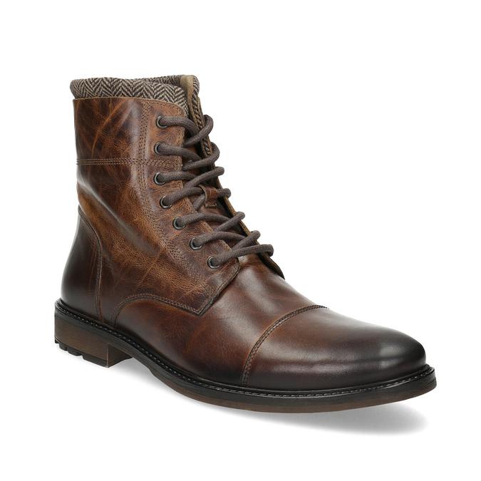 Baťa Kožená pánska zimná členková obuv - Zimná obuv  99ac46e3bb6