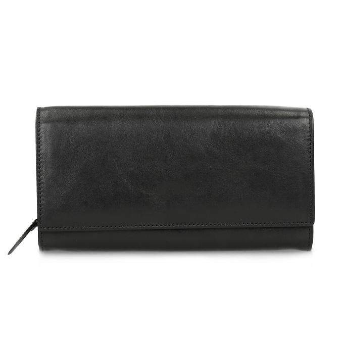 Čierna dámska kožená peňaženka bata, čierna, 944-6216 - 26