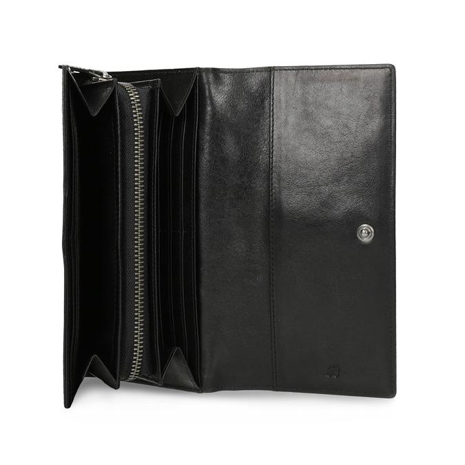 Čierna dámska kožená peňaženka bata, čierna, 944-6216 - 15