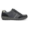 Kožené pánske šedé tenisky bata, modrá, 846-9714 - 19