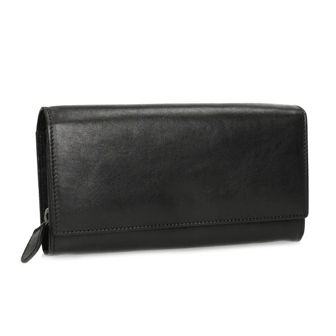 Čierna dámska kožená peňaženka bata, čierna, 944-6216 - 13