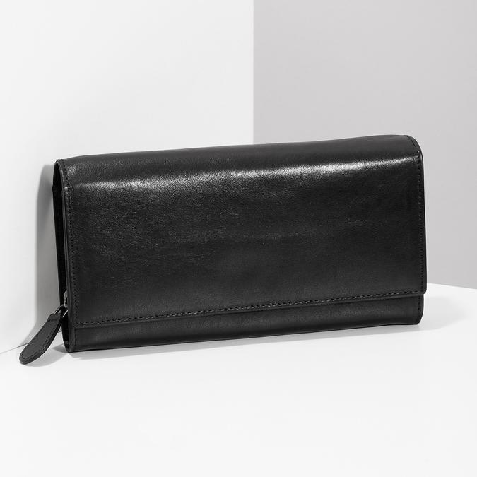 Čierna dámska kožená peňaženka bata, čierna, 944-6216 - 17