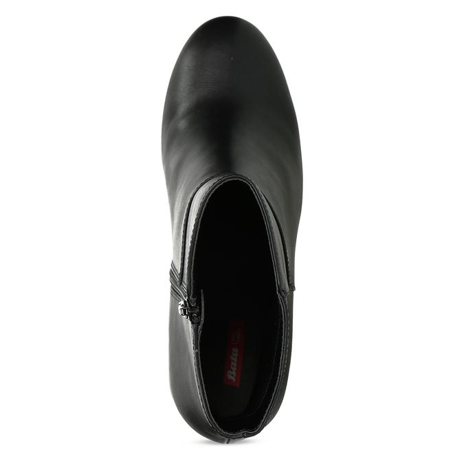 Dámske čierne poltopánky na podpätku bata-red-label, čierna, 791-6628 - 17