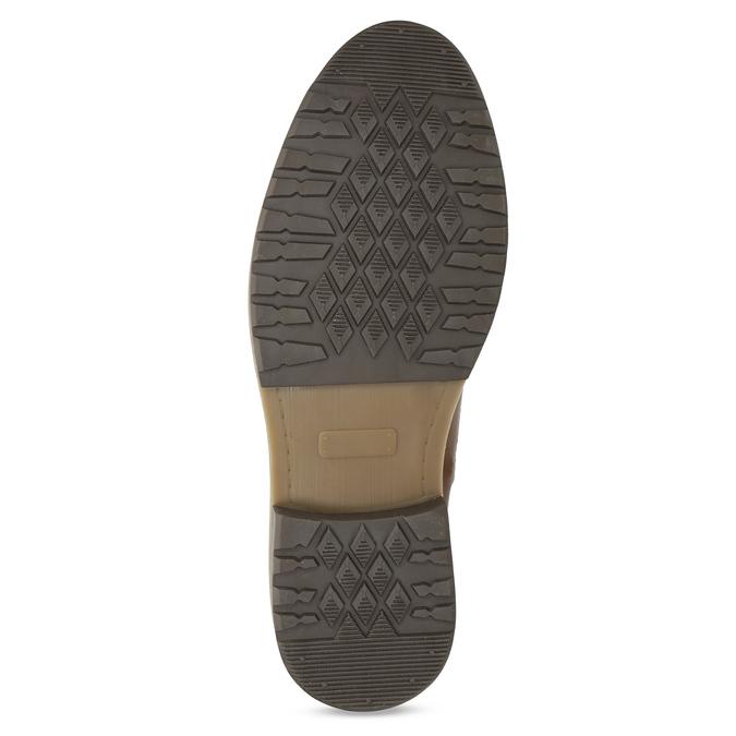 Kožená hnedá pánska členková obuv bata, hnedá, 896-3713 - 18
