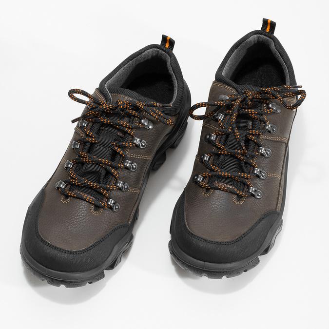 Pánska kožená obuv s masívnou podrážkou weinbrenner, hnedá, 846-4806 - 16